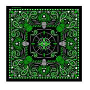 Головной убор Green Paisley Skulls Bandana