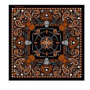 Головной убор Orange Paisley Skulls Bandana