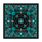 Головной убор Ladies Blue Paisley Skulls Bandana