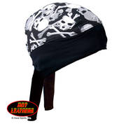 Z-Wrap Skull and Cross Bones Headwrap