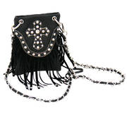 Cross and Fringe Purse