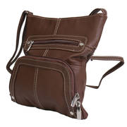 6 Pocket Brown Purse