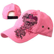 Кепка Ladies Let's Ride Heart Pink Ball Cap