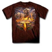 Футболка с изображением индейцев American Spirit Russet T-Shirt