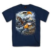 Футболка с изображением птиц и коротким рукавом Majestic Eagle T-Shirt