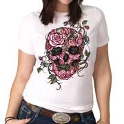 Футболка с изображением черепов и коротким рукавом Roses Skull Tee