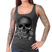 Майка (Топ) Skull Bandana Tank Top with Crystal Studs