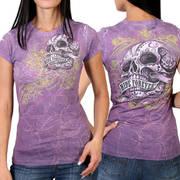 Футболка с изображением черепов Banner Skull Classic Cut Ladies T-Shirt