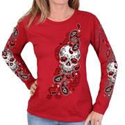 Sugar Paisley Ladies Long Sleeve Shirt
