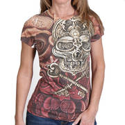 Lock and Key Skull Sublimation T-Shirt