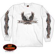 Flaming Upwings Eagle Long Sleeve Shirt