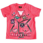 Футболка Леди Байкер Girls Leather Jacket Toddler T-Shirt