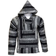 Baja Hooded Jacket Black & White