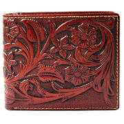 Кошелек / бумажник Tooled Dark Leather Billfold Wallet