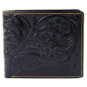 Кошелек / бумажник Tooled Leather Billfold Wallet Black