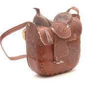 Сумка Leather Saddle Purse Chocolate