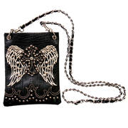 Сумка Black Cross & Wings Purse