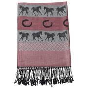 Шарф Pashmina & Silk Scarf - horses - horseshoes