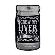 Нашивка Screw My Liver Embroidered Patch
