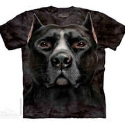 Футболка с собакой Black Pitbull Head