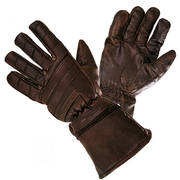 Motorcycle Retro Brown Leather Gauntlets