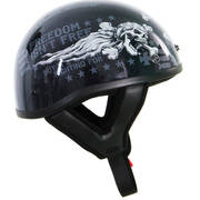 Motorcycle Half Helmet with Freedom Slogan