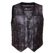 Urban Armor Men's 'Tribal' Amarillo Grey Premium Leather Vest