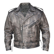 Urban Armor 'Vintage' Leather Jacket with Gun Pockets