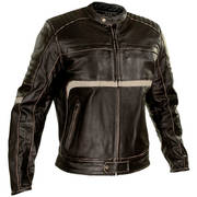 Кожаная мотокуртка Men's Charcoal Dark Brown Leather Armored Motorcycle Jacket