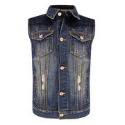 Жилет Delux Men's Vintage Blue Denim Casual Vest