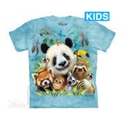 Футболка с коллажем про животных Zoo Selfie Kids