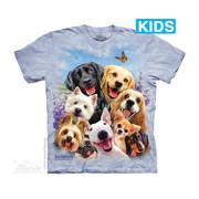 Футболка с собакой Dogs Selfie Kids
