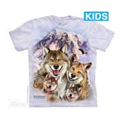 Fun-art футболка Wolf Selfie Kids