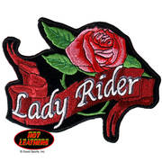 Нашивка Lady Rider Rose Banner Patch Small
