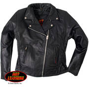 Ladies Braided Motorcycle Jacket