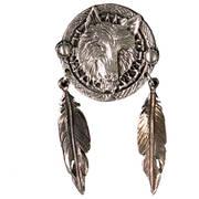 Значок Wolf Dream Catcher Pin