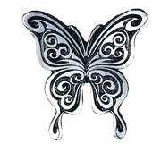Значок Curly Butterfly Wing Pin