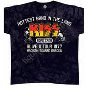 Футболка с эмблеммой рок группы KISS и коротким рукавом Road Crew 77