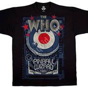 Футболка с эмблеммой рок группы The Who и коротким рукавом Pinball Wizard