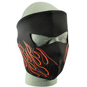 Neoprene Face Mask Orange Flame Design