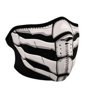 Мото маска Glow In The Dark Bone Breath Neoprene Half Face Mask