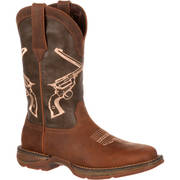 CROSSED GUNS WESTERN BOOT