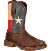 REBEL STEEL TOE TEXAS FLAG WESTERN BOOT