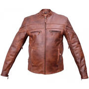 Men's Cafe Brown touring jacket