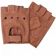 Brown fingerless glove