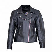 LADIES MOTORCYCLE JACKET WITH BRAID