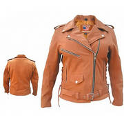 Куртка Ladies brown motorcycle jacket