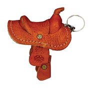 Leather Saddle Key Ring
