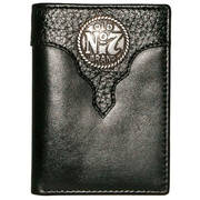 Кошелек / бумажник Old #7 Black Leather Trifold Wallet