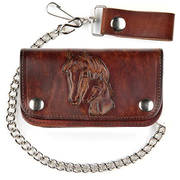 Кошелек / бумажник Leather Biker Wallet - Horses